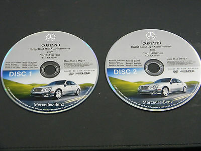 MERCEDES BENZ M R GL E CLS NAVIGATION NAV DVD ROM OEM S0044-0072-810 BQ 6460239
