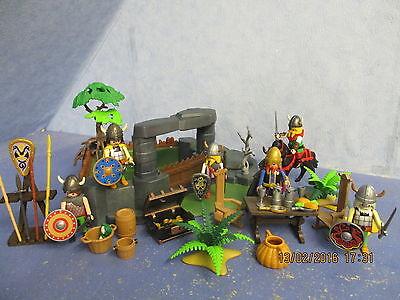Wikinger Festung Lager v 6 x Figuren zu 3150 3151 v Zubehör Playmobil 4429