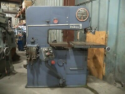Doall Model 3612-3 36 Vertical Band Saw W Hydraulic Power Table