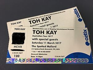 Toh Kay concert tickets (2) Melbourne Homebush Strathfield Area Preview