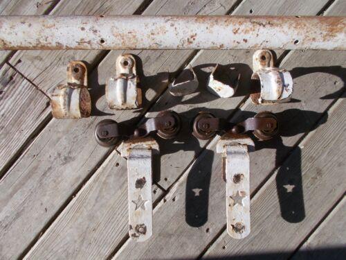 Antique Starline Cannonball Barn Door Hardware Rollers,Track, Hangers & End Caps