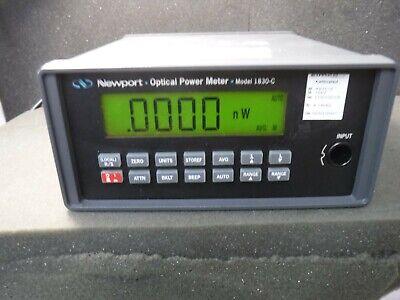 Newport 1830-c Optical Power Meter Calibration Good Until 22021