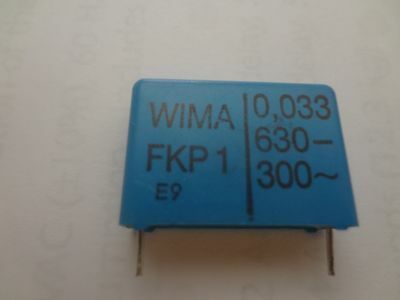 Capacitor Wima Fkp1 0.033uf 630v Dc 300 Vac 5