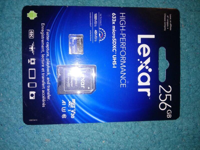 Lexar 256GB 633x microSDXC UHS-1 **Read Description for Huge Discount**