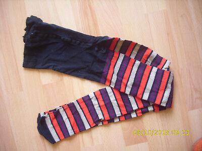 7e4bf8f0f22c8 Strumpfhose Streifen schwarz pink aubergine grau S