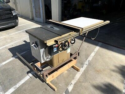 Powermatic Model 66 10 Table Saw With 50 Biesemeyer Fence And Sliding Table.