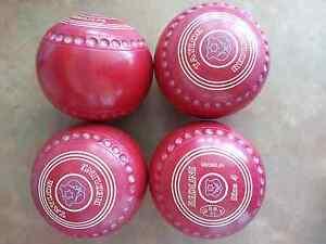 Taylor REDLINE Lawn Bowls Size 4H Colour Red Dimple Grips Surfers Paradise Gold Coast City Preview