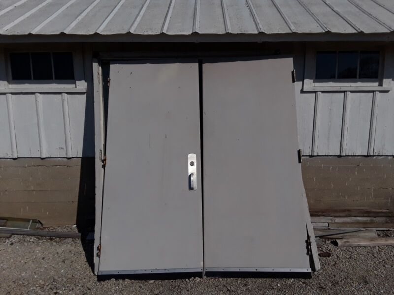 "Double 36""x80"" Commercial Fire Rated Cart Traffic Doors"