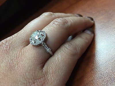 2.48ct Round GIA Certified Vintage Platinum Diamond Engagement Ring 5