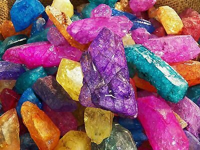 2000 Carat Lots of Dyed Crystal Points - Plus a FREE Faceted Gemstone