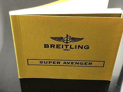 BREITLING SUPER AVENGER PILOT DIVER WATCH INSTRUCTION MANUAL BOOK GUIDE BOOKLET