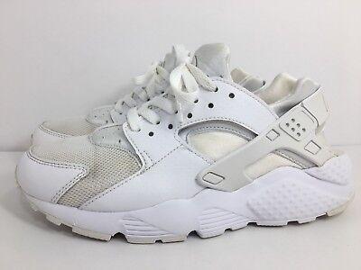 Nike Huarache Run GS BG White Pure Platinum Youth Size 6.5Y US 654275 110