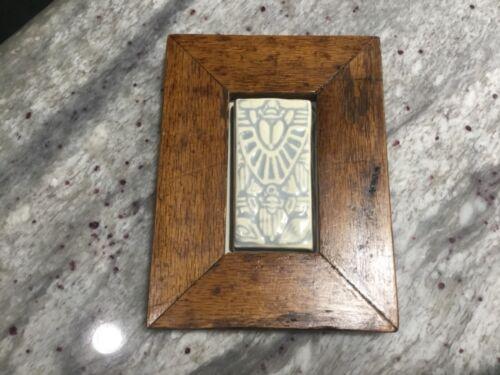 ADELAIDE ROBINEAU Gray Art Pottery Tile -ART DECO -Castle Rock Pottery, CO-MINT