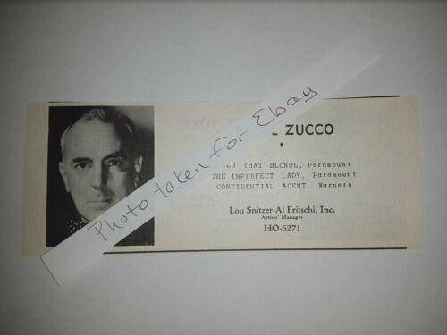 George Zucco Original 1940s actors casting ad