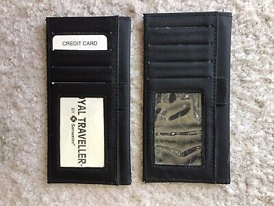 ( Lot Of 2 ) Vinyl Samsonite Travel Wallet Black, Excellent