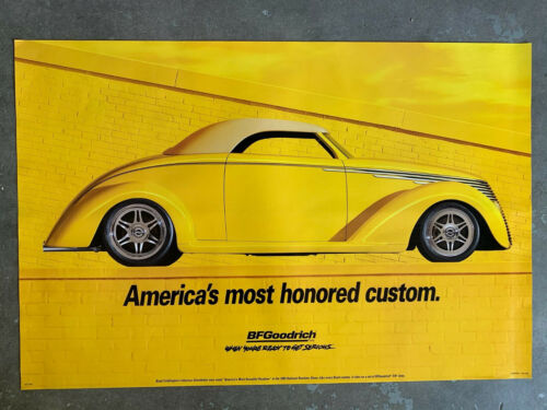 B.F. Goodrich Custom Classic Car Roadster Poster Mint Condition