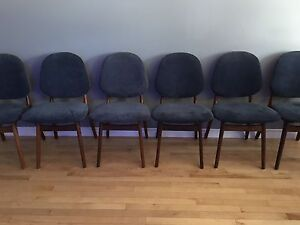 Elegant set of 6 mid-century modern Danish Teak dining chairs