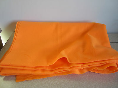 Orange Floresent FELT Fabric  2 yds x 32