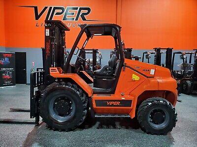 2021 Viper Rt80 8000lb Rough Terrain Pneumatic Forklift 4x4 Diesel Lift Truck