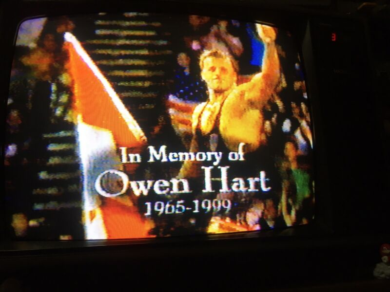 WWF Over The Edge PPV & Raw Is Owen Tribute Show VHS SOLD AS BLANK