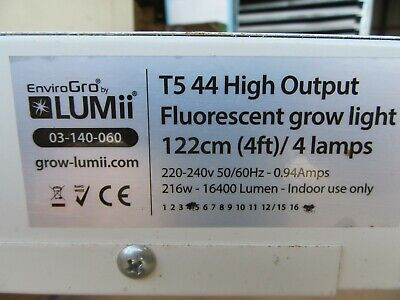 Propagation Grow Light Hydroponics - Enviro Gro by Lumii T5 44 122cm/4FT 4 lamps