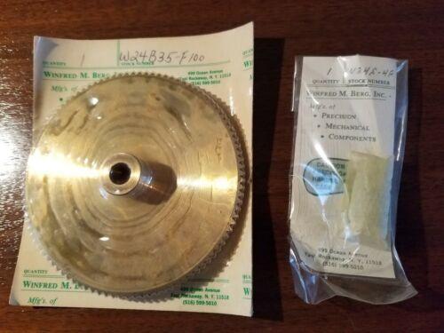 WINFRED M BERG  Worm Gear Set  W24B35-F100 / W24S-4F NEW OLD STOCK