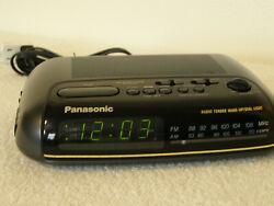 Panasonic 2 Alarm Clock Radio RC-6099 Digital Display AM FM for Home or Office