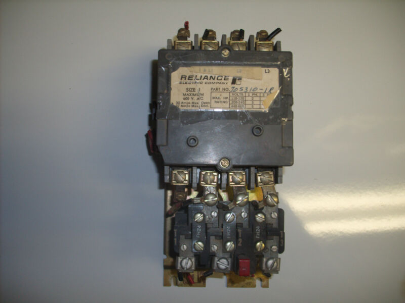 RELIANCE ELECTRIC 705310-1R, 3 PHASE MOTOR STARTER SIZE 1*USED*