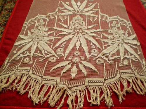 Stunning Antique  needle lace  1920s  curtain