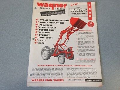 Ford Wagner WMD5 Loader Sales Sheet                 lw  for sale  Myerstown