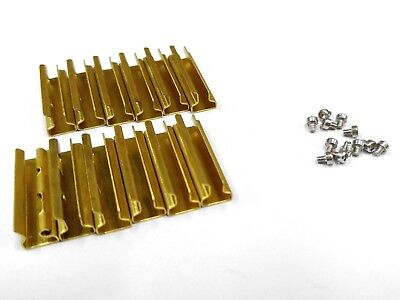 Used, G scale Model Train Brass Track Rail Joiners (12 pieces) + 12pcs  Joiner Screws for sale  Shipping to Canada