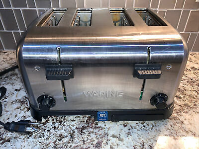 Waring 4-slot Commercial Toaster Wct708 Restaurant Grade- Tested.