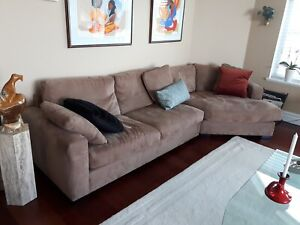 Deep and comfortable high end sectional