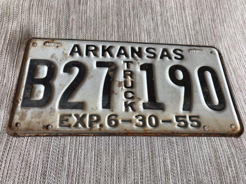 1955 Arkansas Truck License Plate B 27190