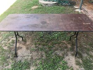 Trestle Table Timber - EX HIRE TABLES FOR SALE Thagoona Ipswich City Preview