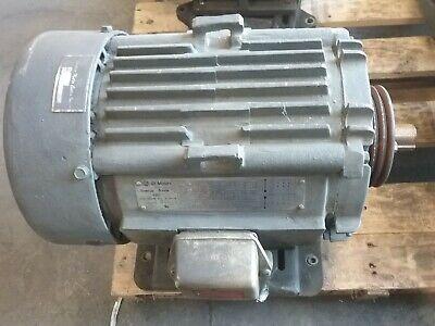 Ge 10 Hp 3 Phase Electric Motor 5ks215se205d8 1765 Rpm 215t Cat 9148e 90taw