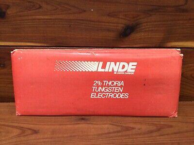 Linde 2 Thoria Tungsten Electrodes 18 7 Ground - Tig Welding Rods - Nos