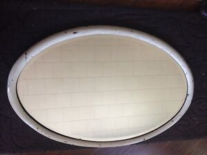 Antique shabby chic wood mirror