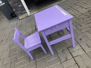 Kid's Purple Desk and Chair