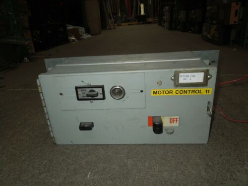 GE QMR Type Size 1 FVNR Combination Starter Bucket Breaker Disconnect Used