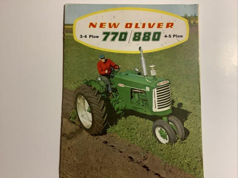 ORIGINAL OLIVER SALES BROCHURE 770 AND 880 16 PAGES 1958