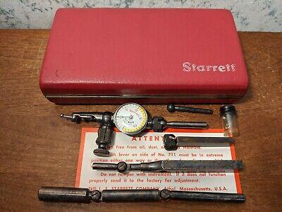 Starrett Last Word Dial Indicator No 711 W Case All Attachments