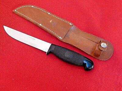 "vintage Cattaraugus USA mint 10"" overall fixed blade knife & sheath"