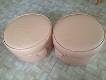 Vinyl salmon colored foot stools Cleveland Redland Area Preview
