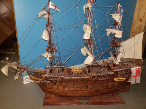 HMS Victory, wooden model ship.