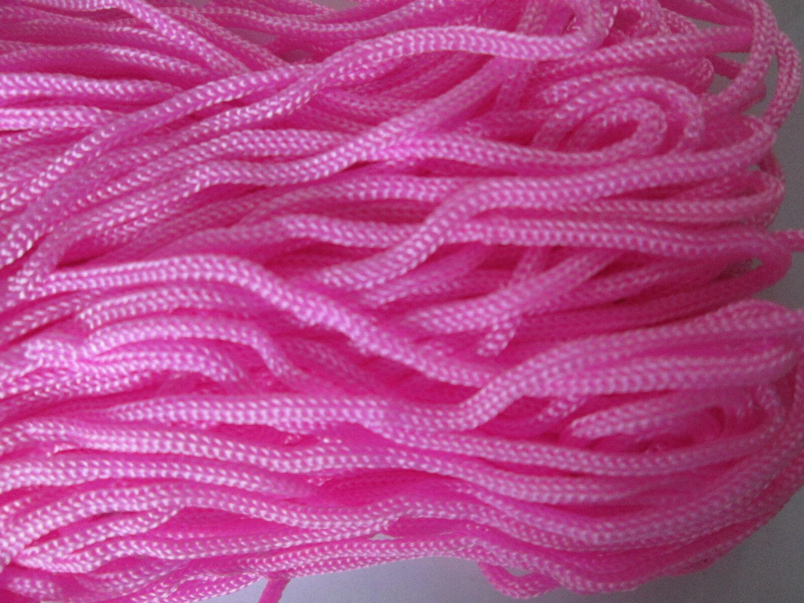 10 METER kordel Satin Dunkel Pink 3mm elegante Borte Spitze KR 009