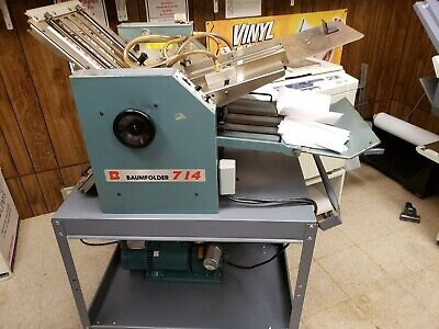 Baumfolder Ultrafold 714 Table Top Air Feedfolder. Used Working Well.