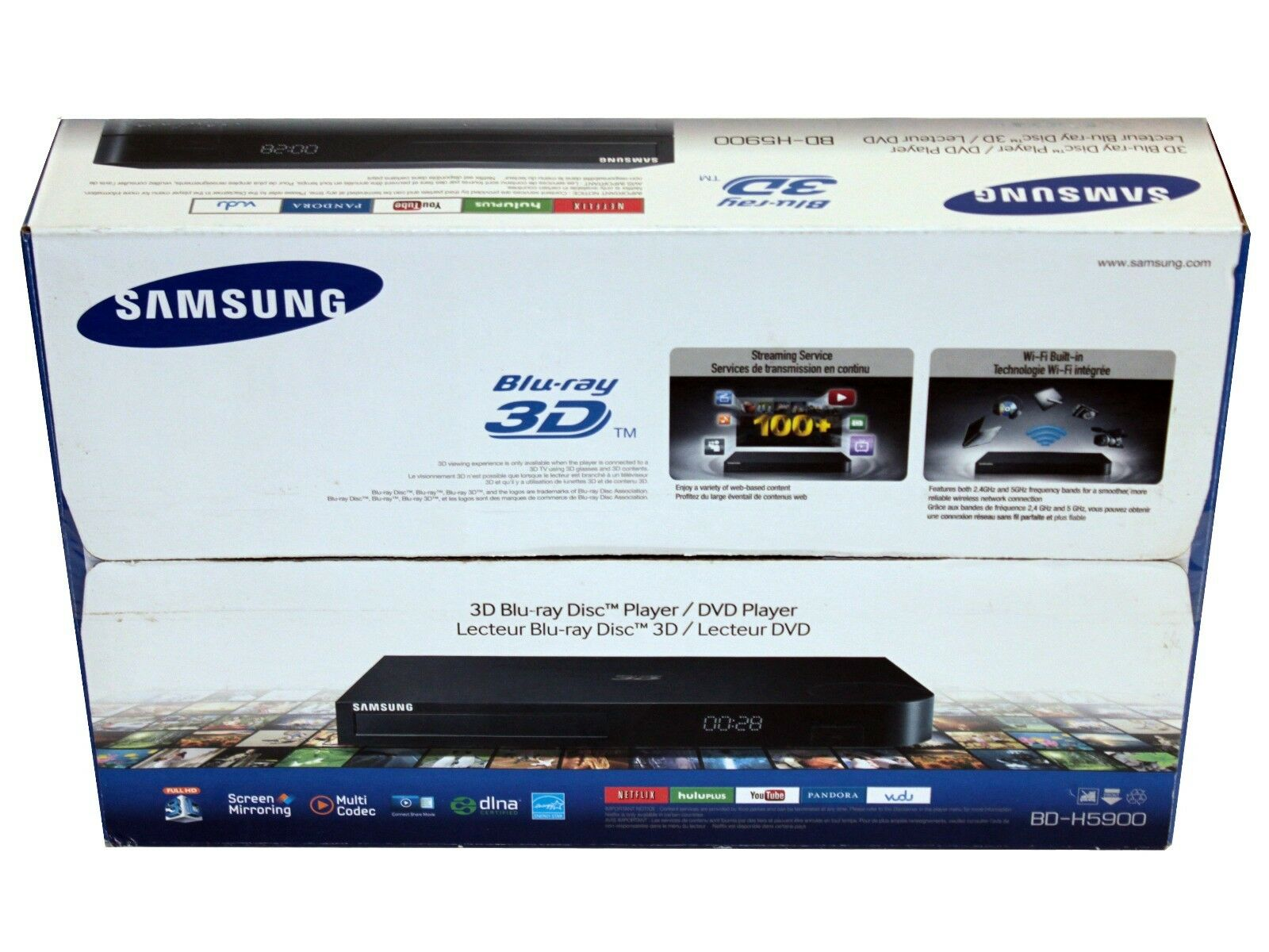 samsung bd h5900 3d blu ray dvd player hd1080p built in. Black Bedroom Furniture Sets. Home Design Ideas