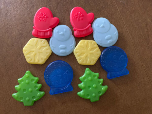 Sassy Baby Holiday Water Filled Teethers Lot Of 10 Christmas