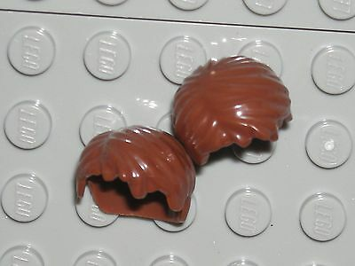 LEGO 2 Reddish Brown Minifigure Hair Wigs Short Tousled with Side Part - Part City Wigs